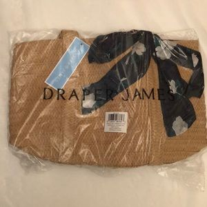 NEW Draper James Everyday Straw Tote Natural NWT
